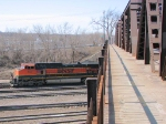 100321007 Eastbound BNSF Passing Northtown &quot;T&quot; Yard
